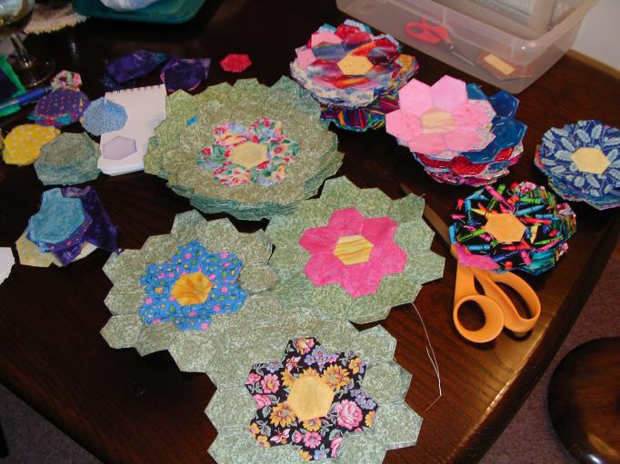 Grandmother's Flower Garden - The Quilter's Cache - Marcia Hohn's