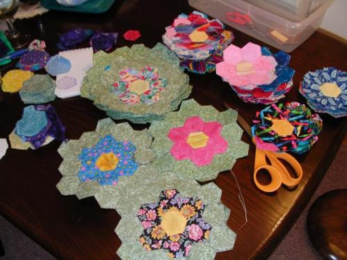 Growing a Grandmother's Flower Garden Quilt