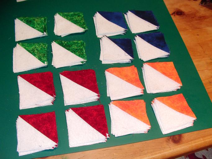Quilt Patterns Quarter Square Triangles : HSTs for Judy s Quilt-Along Rosewillow s Unfinished Business