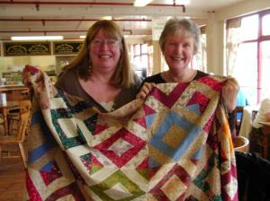 Jean and I with the other quilt
