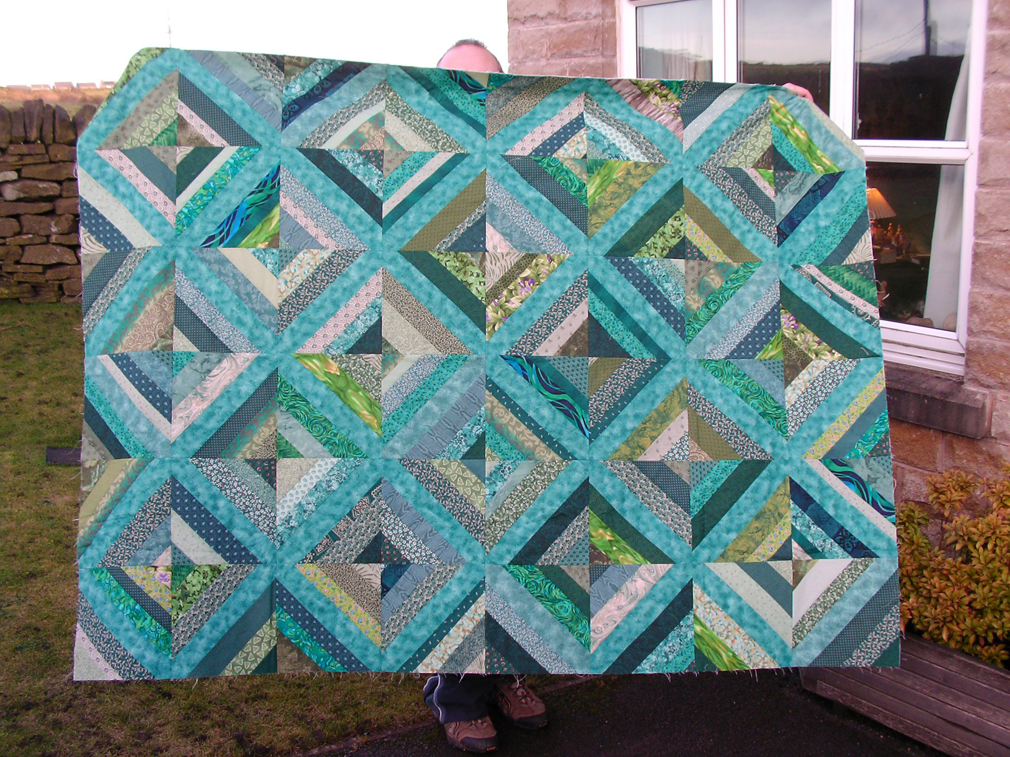 Purple And Green Quilt Rosewillows Unfinished Business